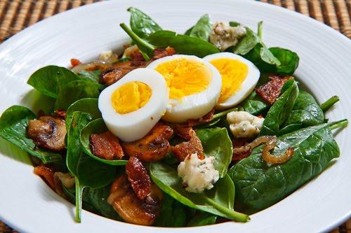 Шпинат салат с рецепт