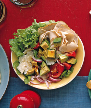 Chicken Tomato and Avocado Salad
