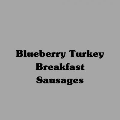 Blueberry Turkey Breakfast Sausages