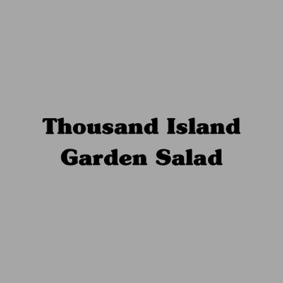 Thousand Island Garden Salad