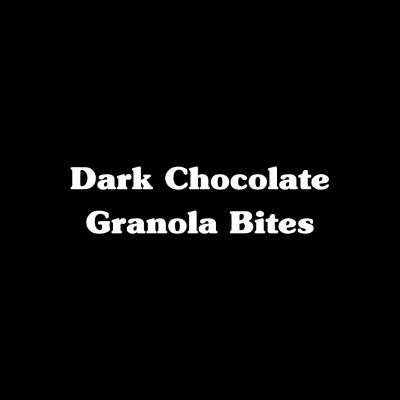 Dark Chocolate Granola Bites