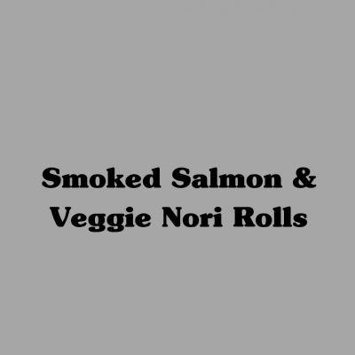 Smoked Salmon and Veggie Nori Rolls