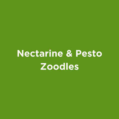 Nectarine & Pesto Zoodles
