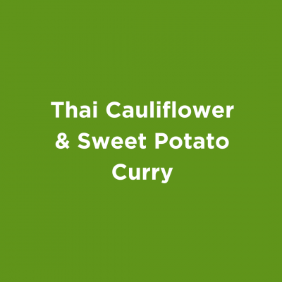 Thai Cauliflower & Sweet Potato Curry