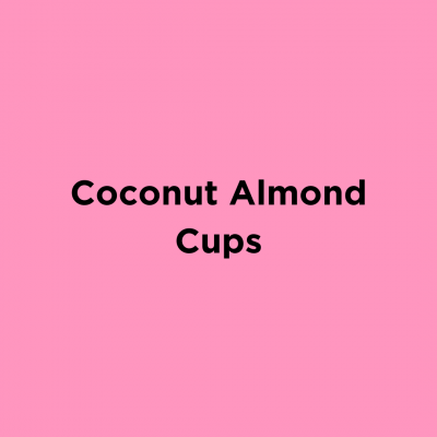 Coconut Almond Cups