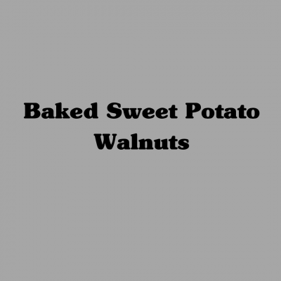 Baked Sweet Potato with Walnuts
