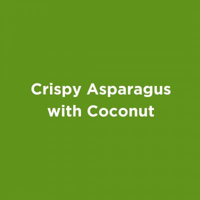 Crispy Asparagus with Coconut