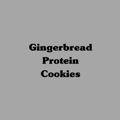Gingerbread Protein Cookies