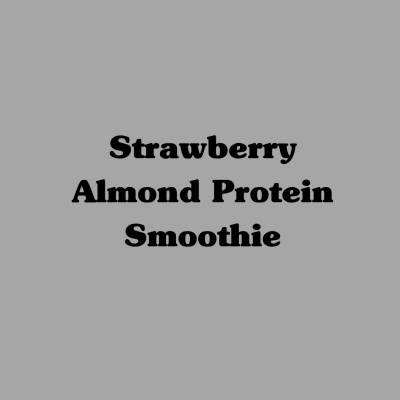 Strawberry Almond Protein Smoothie