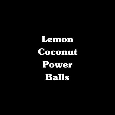 Lemon Coconut Power Balls