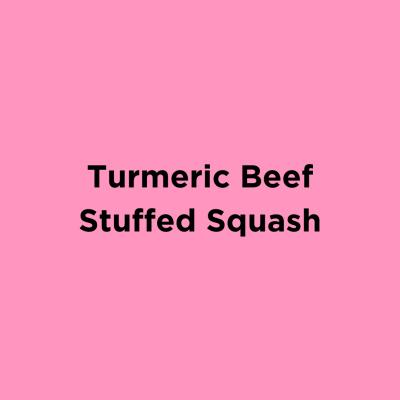 Turmeric Beef Stuffed Squash