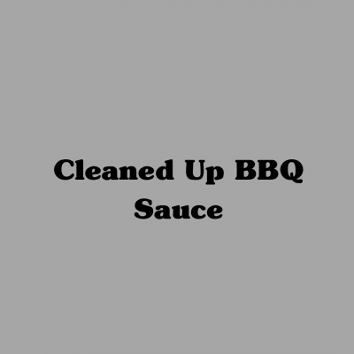 Cleaned Up BBQ Sauce