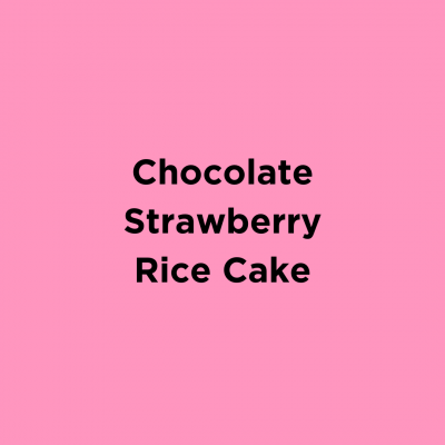 Chocolate Strawberry Peanut Butter Rice Cake
