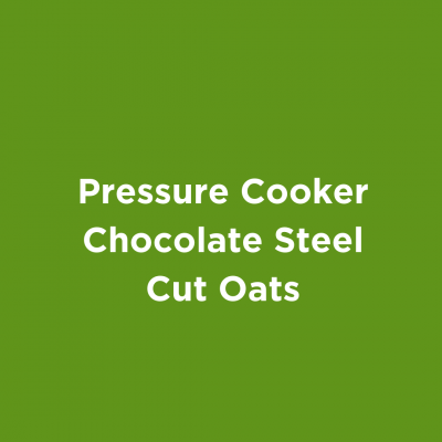 Pressure Cooker Chocolate Steel Cut Oats
