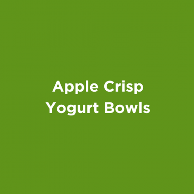 Apple Crisp Yogurt Bowls