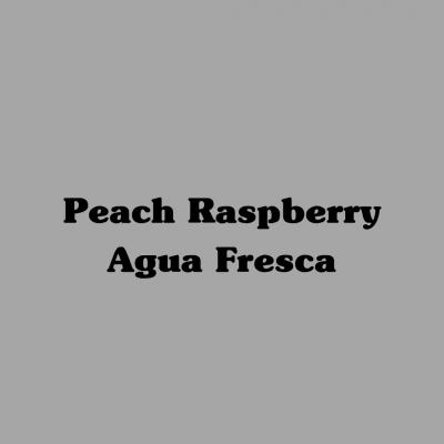 Peach Raspberry Agua Fresca