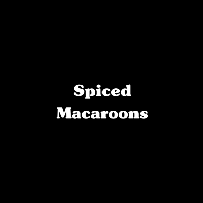 Spiced Macaroons