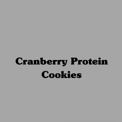 Cranberry Protein Cookies