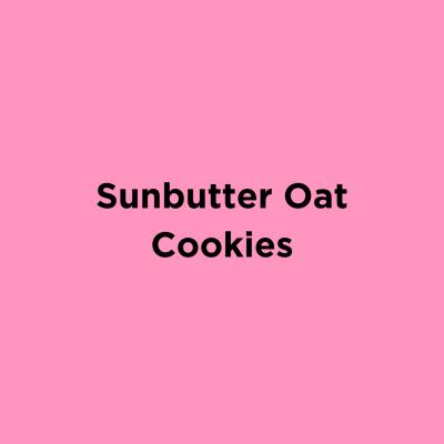 Sunbutter Oat Cookies