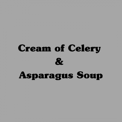 Cream of Celery & Asparagus Soup