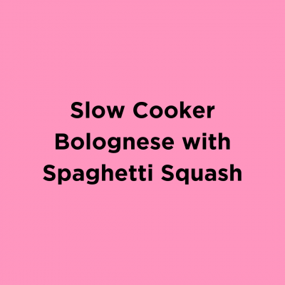 Slow Cooker Bolognese with Spaghetti Squash