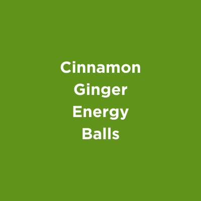 Cinnamon Ginger Energy Balls