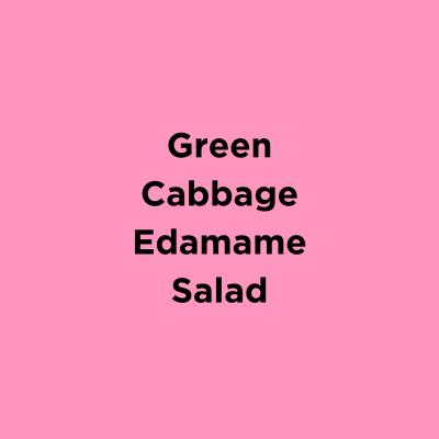 Green Cabbage Edamame Salad