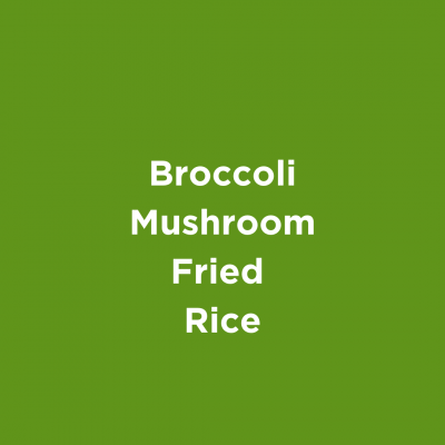 Broccoli Mushroom Fried Rice