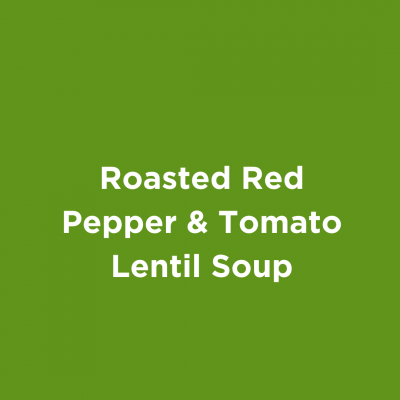 Roasted Red Pepper & Tomato Lentil Soup