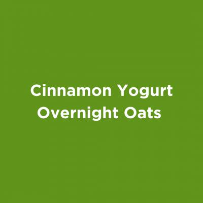 Cinnamon Yogurt Overnight Oats