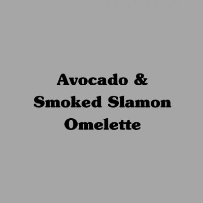 Avocado & Smoked Salmon Omelette