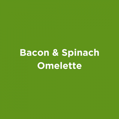 Bacon & Spinach Omelette