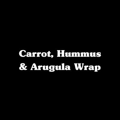 Carrot, Hummus & Arugula Wrap