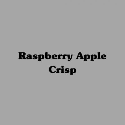 Raspberry Apple Crisp