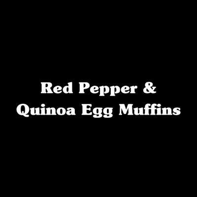 Red Pepper & Quinoa Egg Muffins