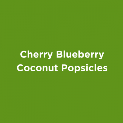 Cherry Blueberry Coconut Popsicles